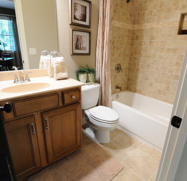 Big canoe model homes traditional bathroom atlanta for Model home bathroom photos