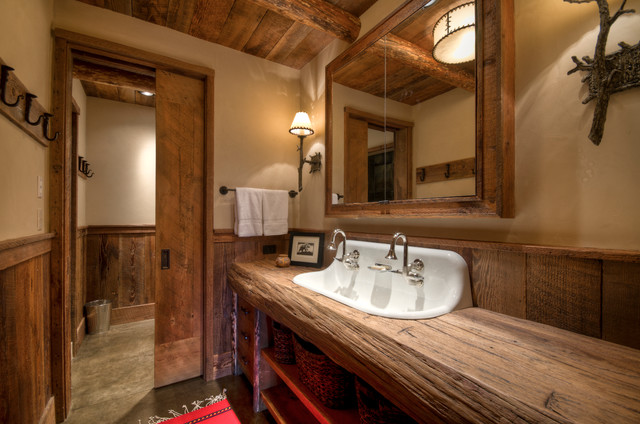 Big Sky Residence Lot 1 rustic-bathroom