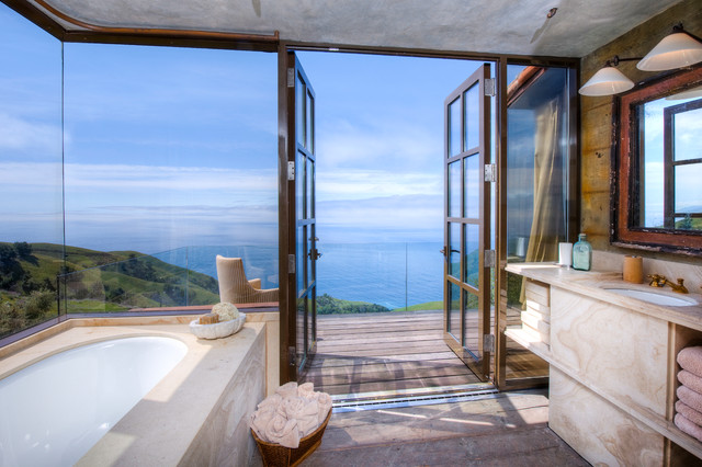 Big Sur Coast Ridge Estate mediterranean-bathroom