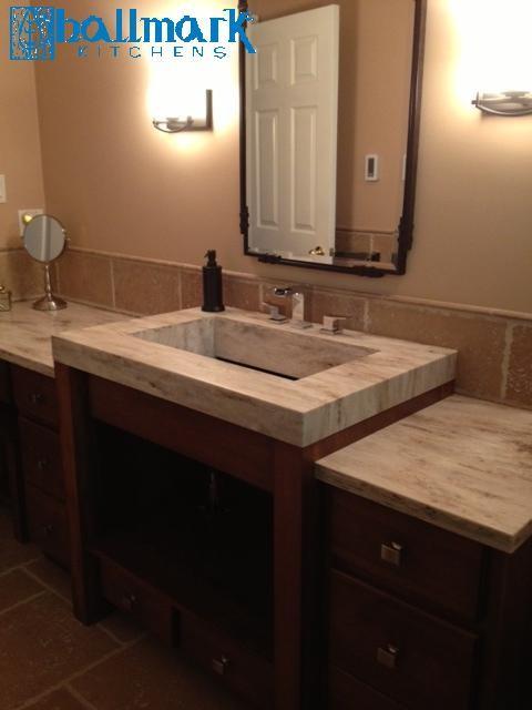Birch vanity corian sink for Corian sink accessories