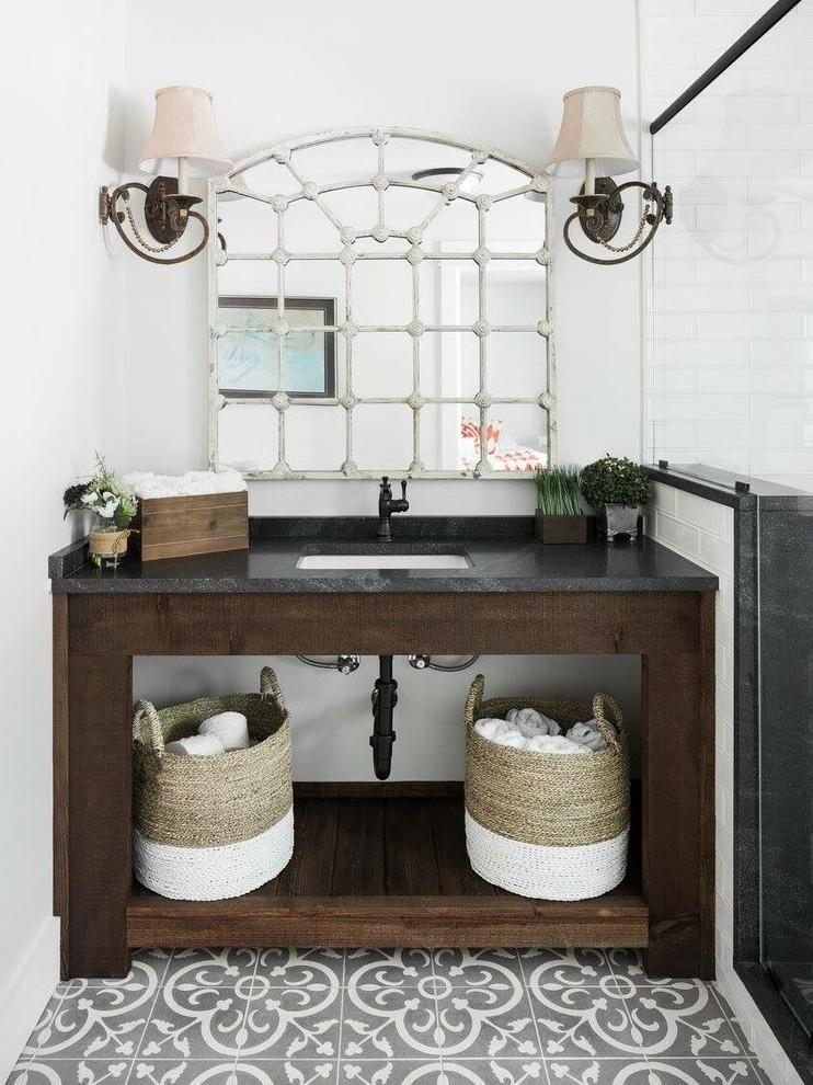 Birmingham Nero Mist Honed Bathroom - Transitional ...
