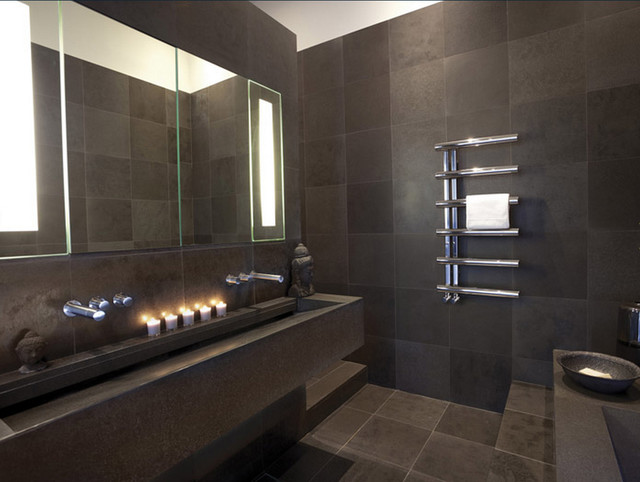 bisque radiators contemporary bathroom