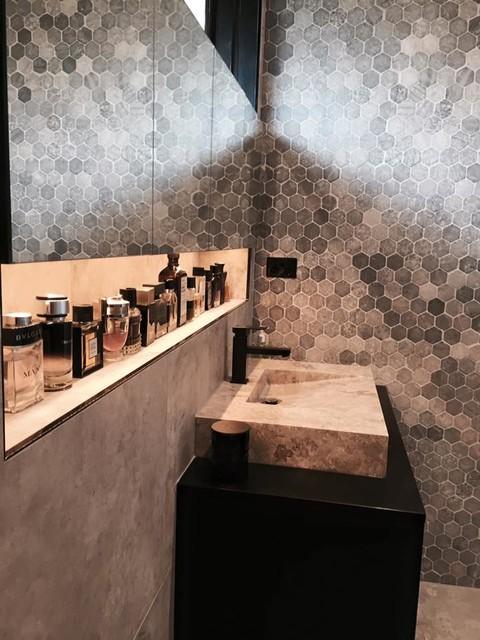 Black and grey bathroom melbourne for Industrial design firms melbourne