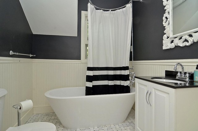 Black And White Bathroom Modern Bathroom