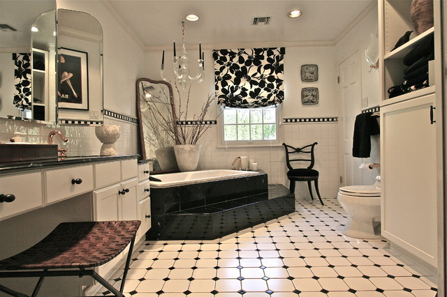Black And White Bathroom Contemporary Bathroom New York By Joan Schei