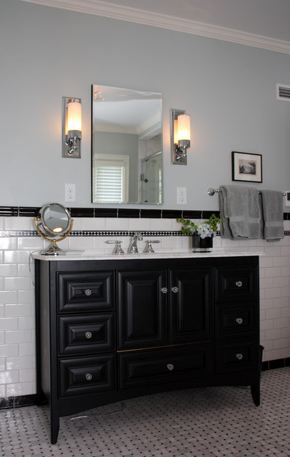 Black and White Contemporary - traditional - bathroom - milwaukee ...