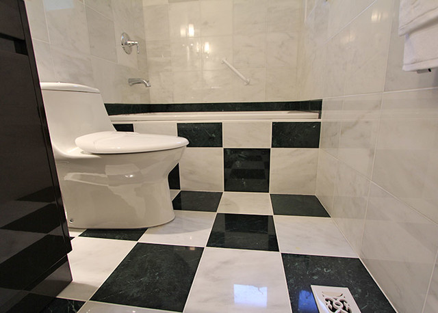 Black And White Marble Bathroom Traditional Bathroom Toronto By Bower