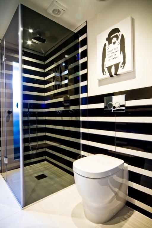 White Striped Bathroom Brighton Hove
