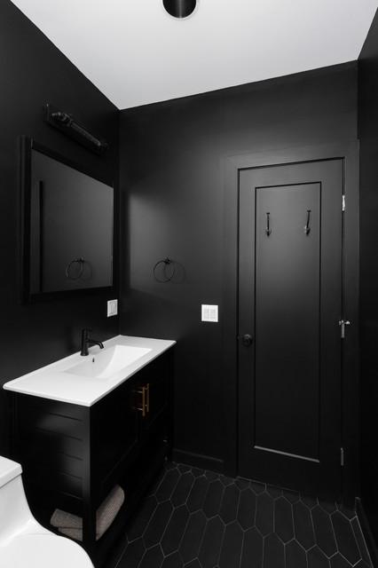 Black Bathroom Industrial, Images Of Black Bathrooms