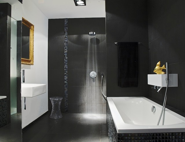 Black Bathroom Modern Bathroom Part 4