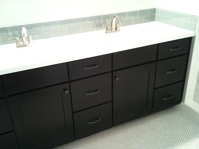 Black Cabinets Shaker Style CliqStudios Contemporary Bathroom Minneapolis By