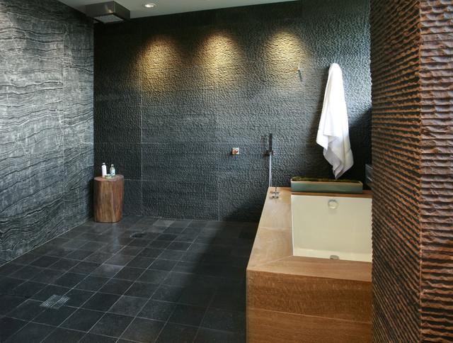 Black Stone Bath : Black Granite Striated, Wood Grain Marble Serengeti, Madagascar ...