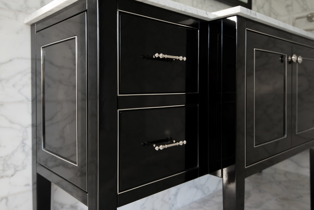 Black high gloss vanity and medicine cabinet - Bathroom cabinets black gloss ...