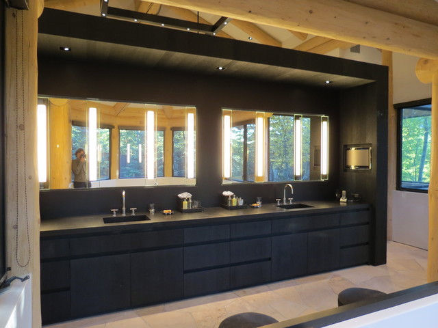 black master vanity modern bathroom