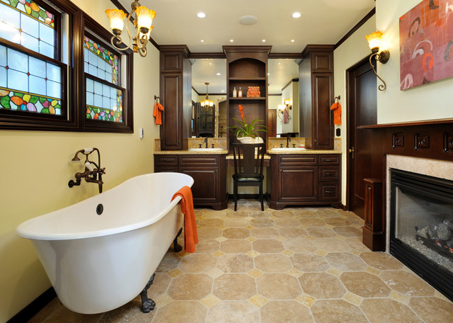 mediterranean bathroom by Christian Rice Architects, Inc.