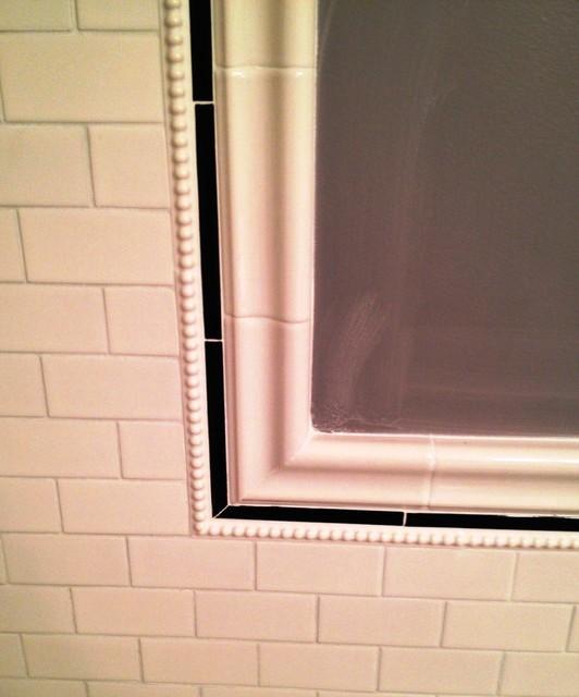 Black/White Bathroom traditional-bathroom