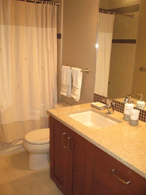 Blackmud creek ravine residence contemporary bathroom for Bathroom designs edmonton