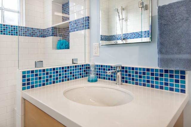 Blue and white bathroom traditional bathroom san Blue and white bathroom