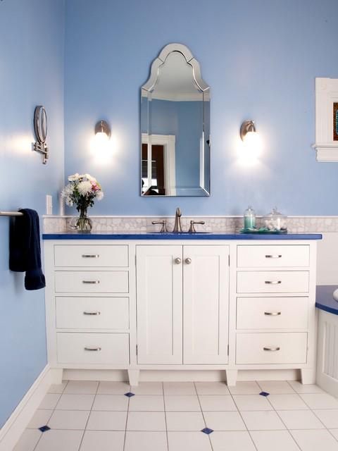 Blue and white bathroom traditional bathroom - Blue and white bathroom ...