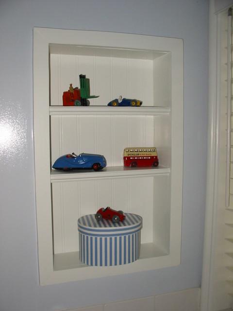 Blue and White Kid's Bath Medicine Cabinet/Niche - Beach Style - Bathroom - los angeles - by ...