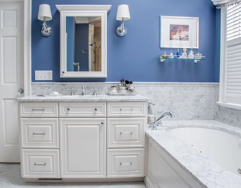Blue & White Master Bath