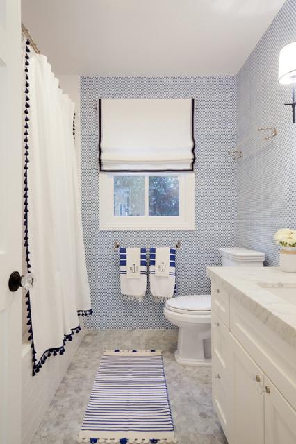 blue white trad maritim badezimmer los angeles. Black Bedroom Furniture Sets. Home Design Ideas
