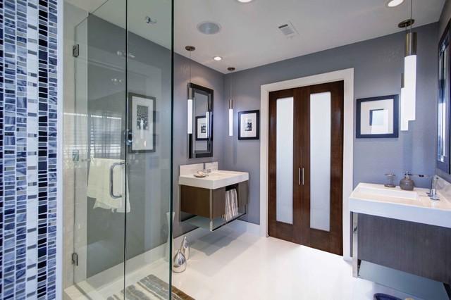 Blue Bathroom contemporary-bathroom