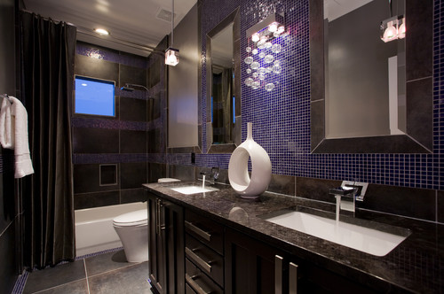 What is the brand of charcoal italian porcelain tile for Bathroom designs 7x8