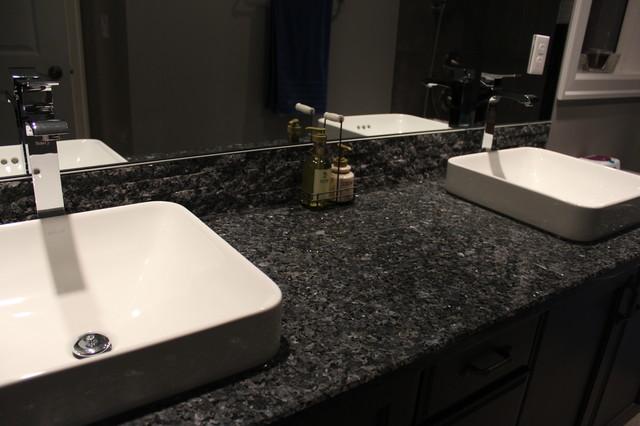 Blue pearl granite vanity 39 s granite tile backsplash Granite backsplash for bathroom vanity
