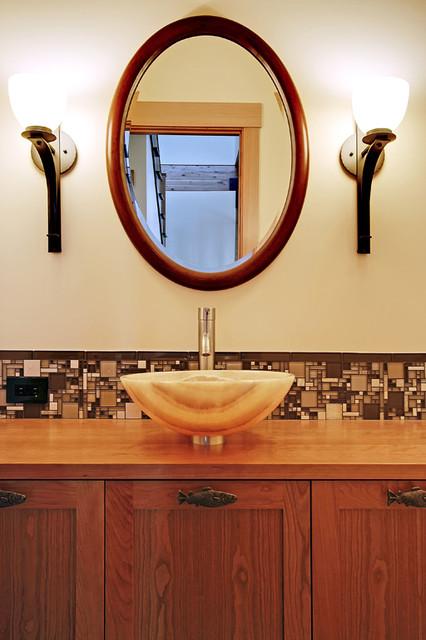 Blue Ridge Custom Home contemporary-bathroom