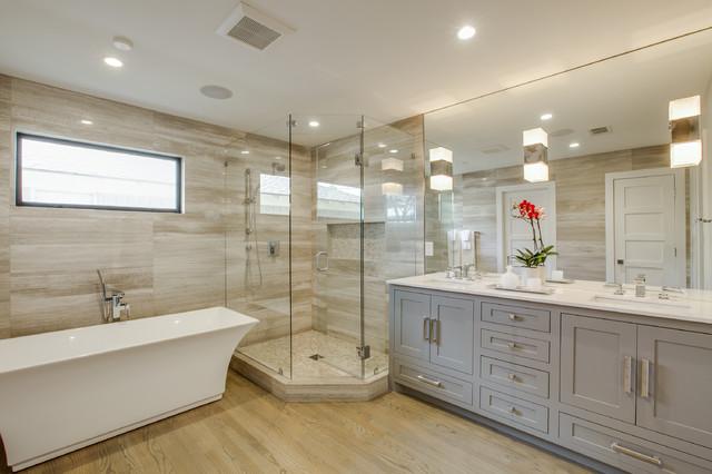 Bluff dale full home renovation classique chic salle - Salle de bain classique chic ...