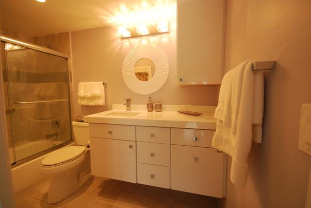 Blush remodel contemporary-bathroom