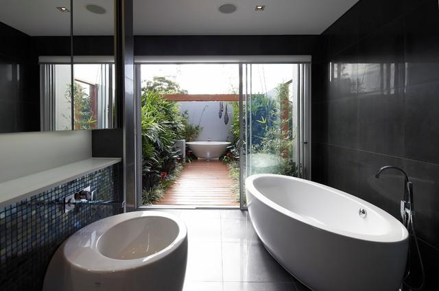 Boardwalk Bathing modern-bathroom