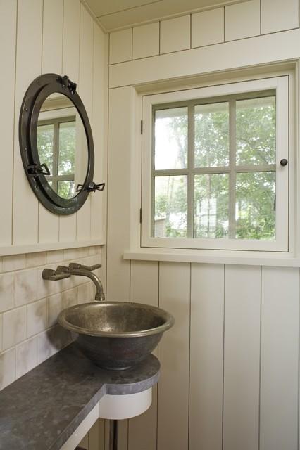 Boathouse Hideaway Rustic Bathroom Minneapolis By