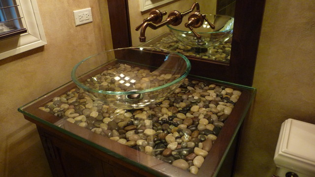 rocks in bathroom sink alderfer lifestyle design eclectic bathroom 20223
