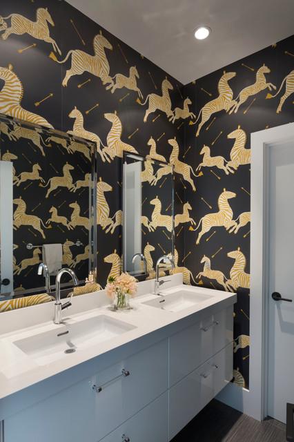 Bold Zebra Bathroom Contemporary Bathroom