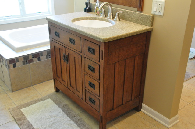 Bonus Room Craftsman Bath Craftsman Bathroom Chicago By Someone 39 S In The Kitchen Inc