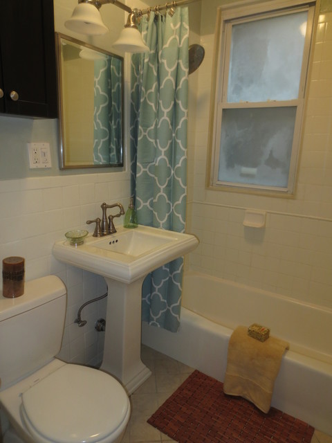 Boston condo after stage to sell by mary traditional - Staging a bathroom to sell ...