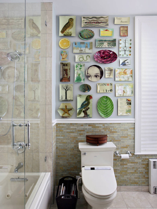 Bathroom art walls 2017 grasscloth wallpaper for Quirky bathroom designs