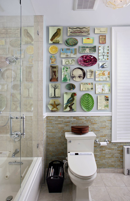 Boston Townhouse Powder Room eclectic-bathroom