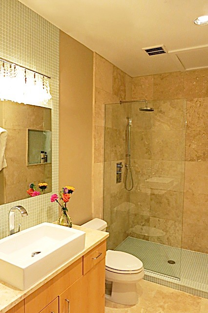 Boulder Condo Bath Renovation-After Photo - Contemporary - Bathroom ...