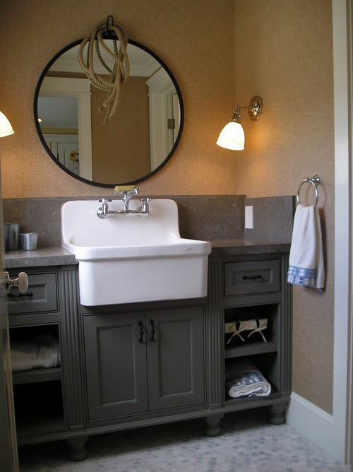 traditional bathroom Farmhouse Sinks in the Bathroom
