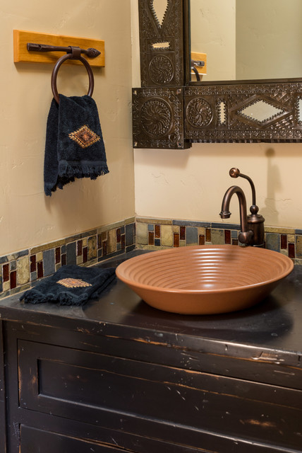 Brasada Ranch Home Half Bath Rustic Bathroom Other