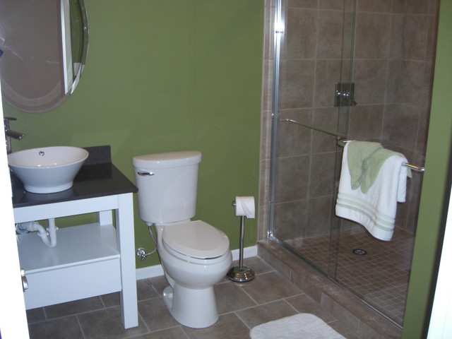 Brean Way Basement contemporary-bathroom