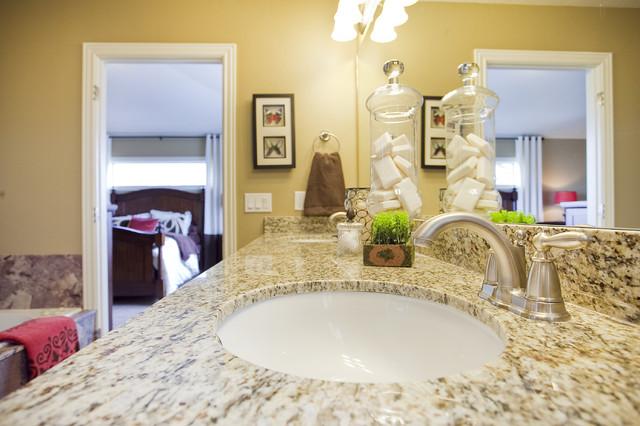 Breckenridge plan stillwater model home traditional for Model bathrooms photos