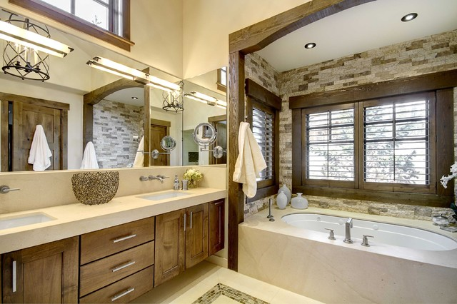 Breckenridge Residence rustic-bathroom