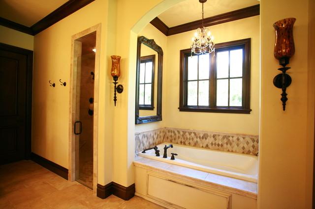 English Tudor Estate Traditional Bathroom Oklahoma Kitchen Design Ideas