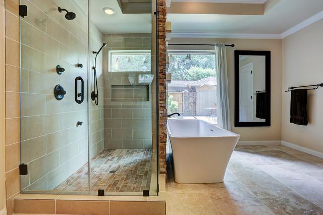 Briarpark master bath remodel after photo craftsman for Bathroom designs houston