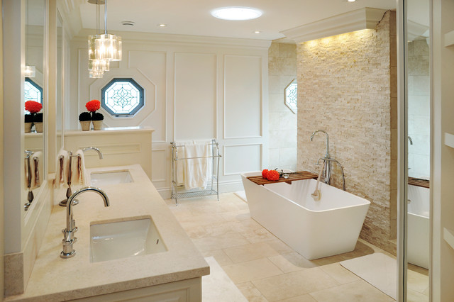 Bright Home In London 1124 Transitional Bathroom