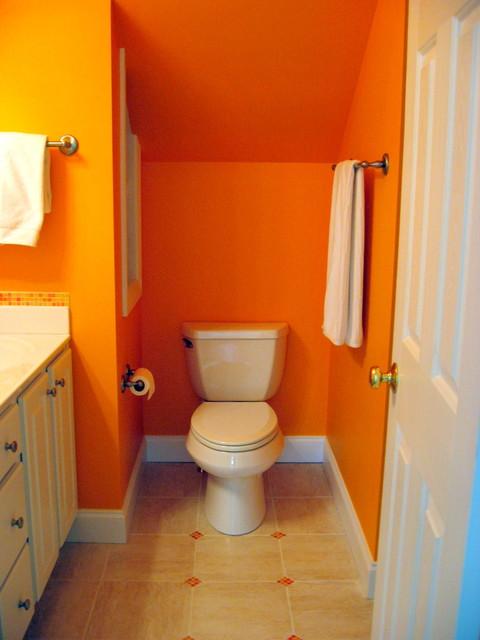Bright Orange Bathroom